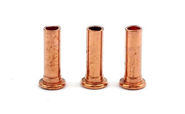 China Small Semi Tubular Red Copper Rivets For Brake Linings Corrosion Resistance supplier